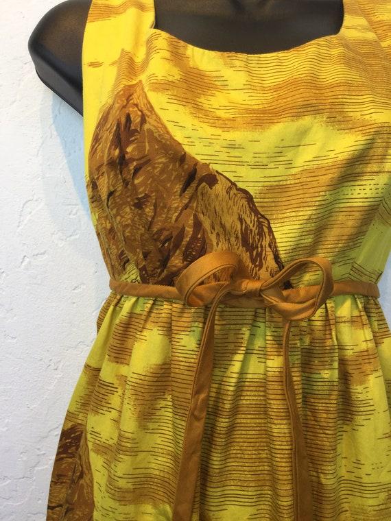"""Vintage 1960s Hawaiian cotton dress. 26"""" waist - image 5"""