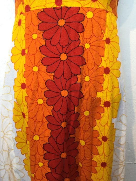 Vintage 1960s/70s tiki hawaiian cotton dress - image 5