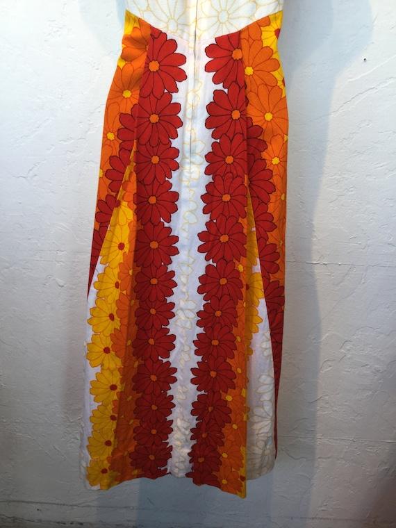 Vintage 1960s/70s tiki hawaiian cotton dress - image 8