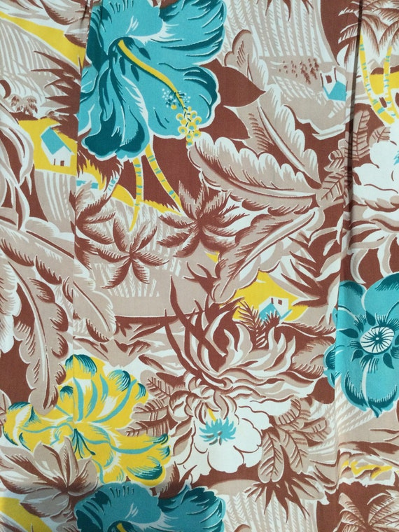 Vintage 1940s rayon Hawaiian shirt. Size medium - image 3