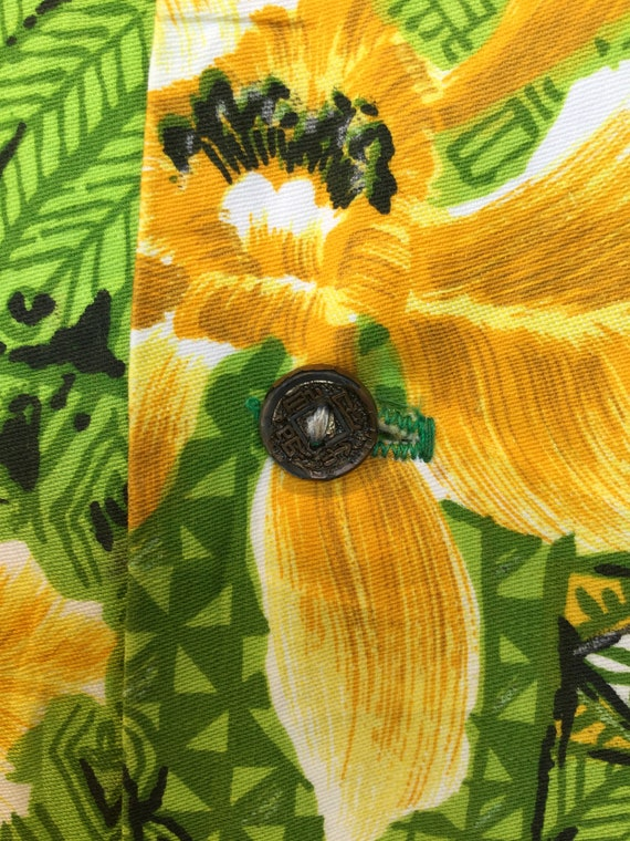 Vintage 1960s cotton Hawaiian shirt. - image 5