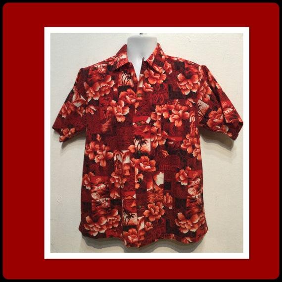 Vintage 1950s hawaiian shirt. Size medium