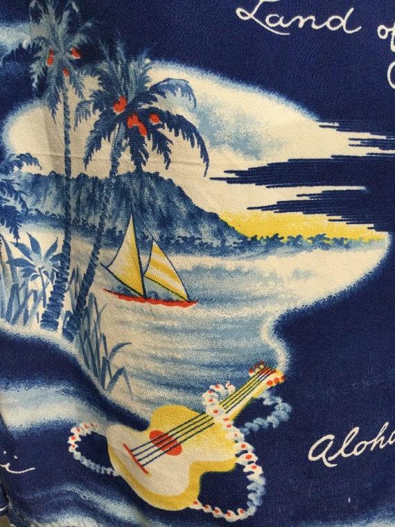 Vintage 1950s rayon Hawaiian shirt. Size large - image 3