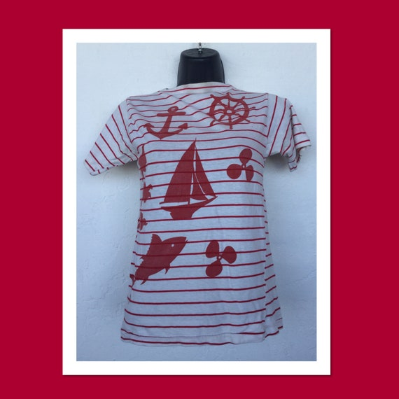 Women's vintage original 1950s/60s stripe nautical