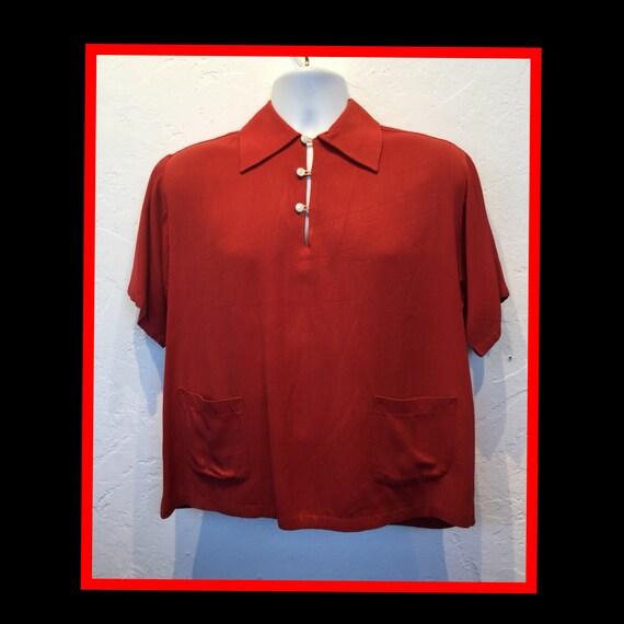1950s red Gaucho shirt