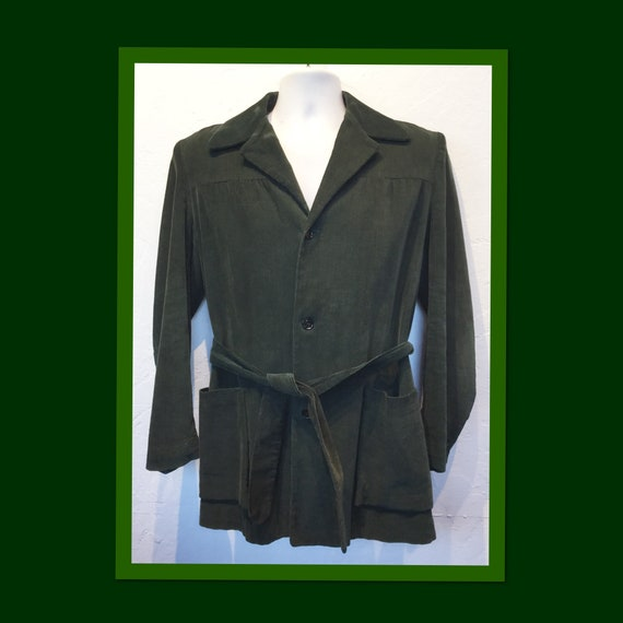Vintage 1940s/50s green corduroy Hollywood jacket