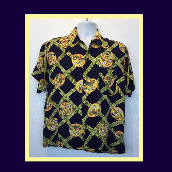 1940s vintage rayon Hawaiian shirt