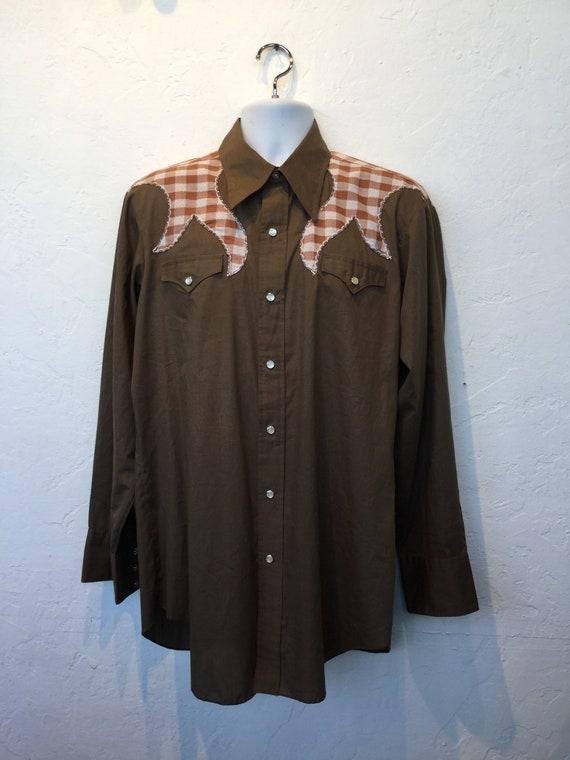 Vintage H-BAR-C cotton western shirt - image 2