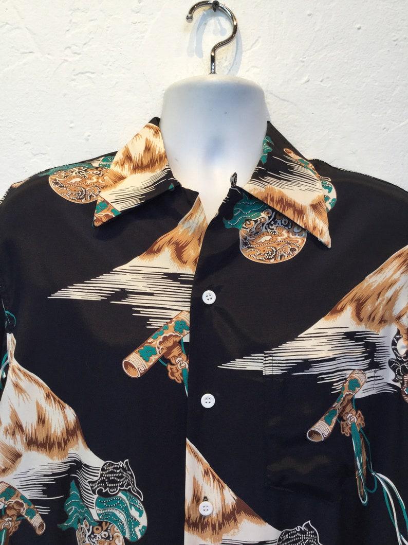 1940s vintage reproduction limited edition Kona Bay rayon Hawaiian shirt Size medium