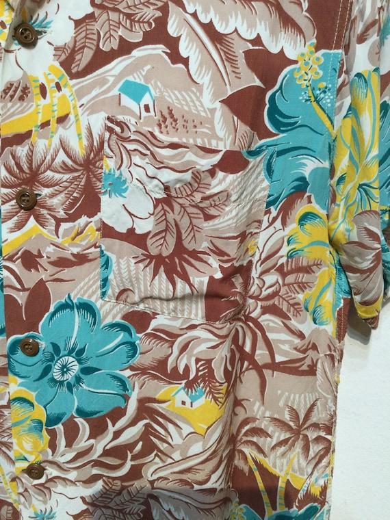 Vintage 1940s rayon Hawaiian shirt. Size medium - image 5