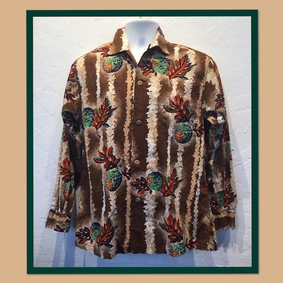 Vintage long sleeve cotton Hawaiian shirt
