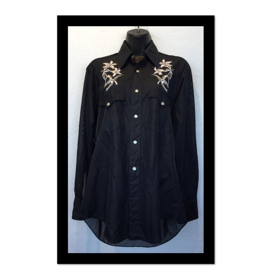Vintage women's H BAR C western shirt