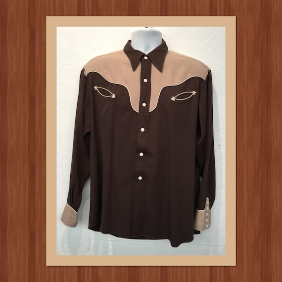 Vintage 1950s two tone western shirt