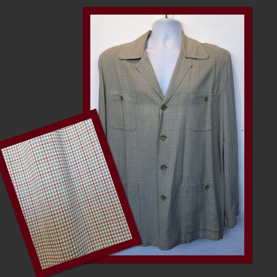 Vintage 1940s/50s houndstooth Hollywood Jacket. Si