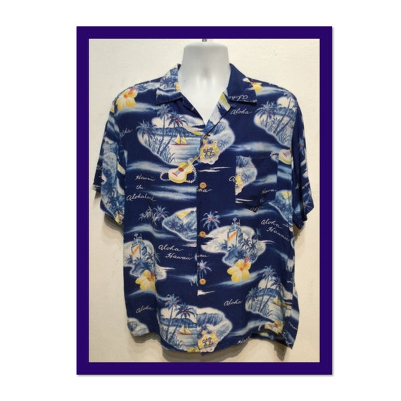 Vintage 1950s rayon Hawaiian shirt. Size large - image 1