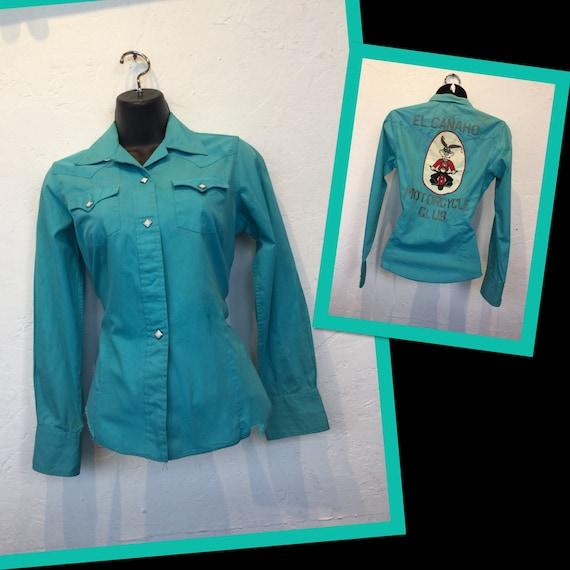 1950s vintage motorcycle club western shirt