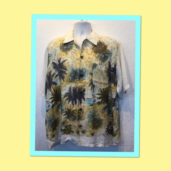 "Vintage 1950s original ""Duke"" Hawaiian shirt. Size"