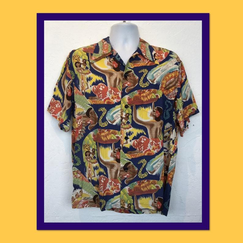 Reproduction shirts vintage hawaiian Men's Vintage
