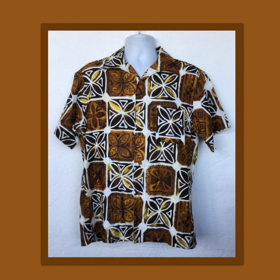 Vintage 1960s cotton Hawaiian shirt - image 1