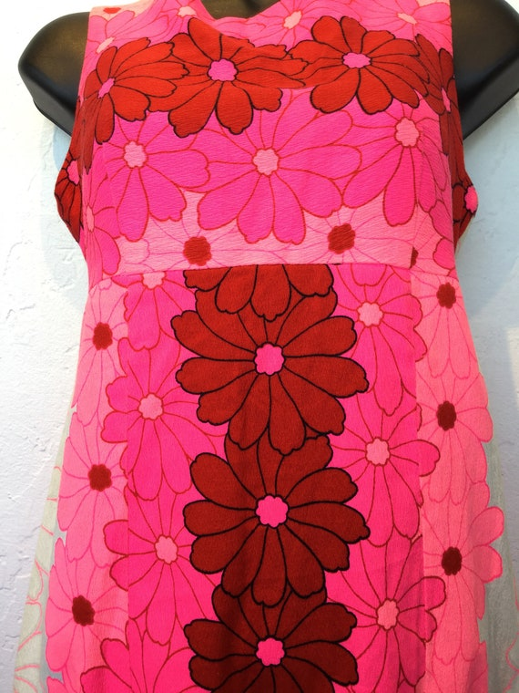 Vintage 1960s/70s tiki Hawaiian cotton dress - image 3
