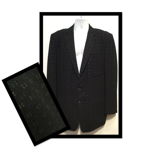 Vintage 1950s black fleck sports jacket