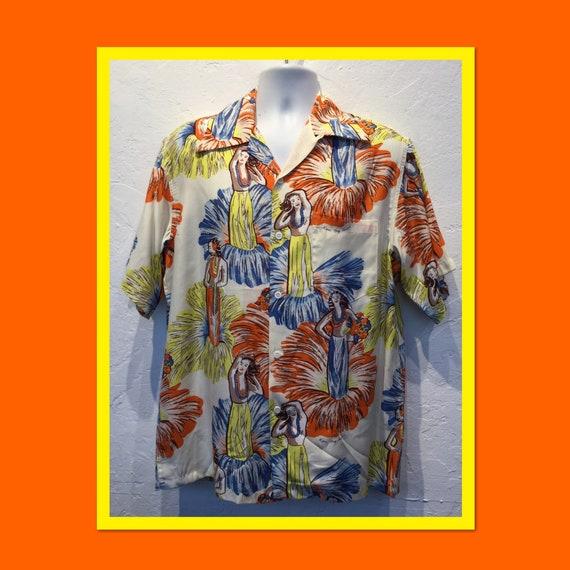 Shirts vintage reproduction hawaiian 1950s Style