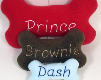 Dog Bone Toys with Squeaker  Small, Medium and Large Personalized Name