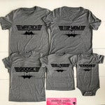Top Gun Matching Gray Triblend T-shirts. Choose Unisex Adult,Ladies,Youth,Toddler,Baby bodysuit. Maverick and Goose and all the Pilots