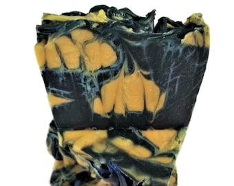 Patchouli Orange Soap, Patchouli Soap, Orange Soap, Natural Soap, Activated Charcoal Soap, Vegan Soap, Cold Process Soap, Soap Gift