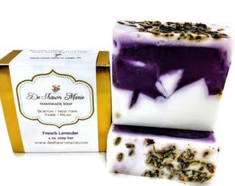SOAP- French Lavender Soap - Vegan Soap - Handmade Soap - Real Lavender Soap- Soap Gift