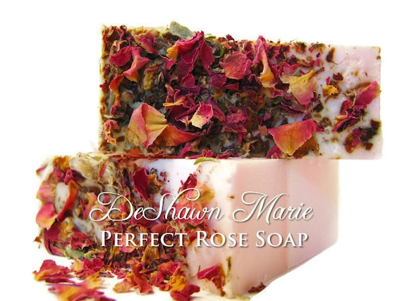 Perfect Rose Soap/Handmade Soap/Rose Soap/Rose Petal Soap/Vegan Soap/Natural Soap/Floral Soap/    Soap Sale  Christmas Clearance