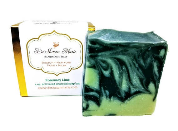 SOAP - Rosemary Lime Soap Vegan Soap Cold Process Soap Natural Soap Activated Charcoal Soap Christmas Gift   Soap Sale Christmas Clearance