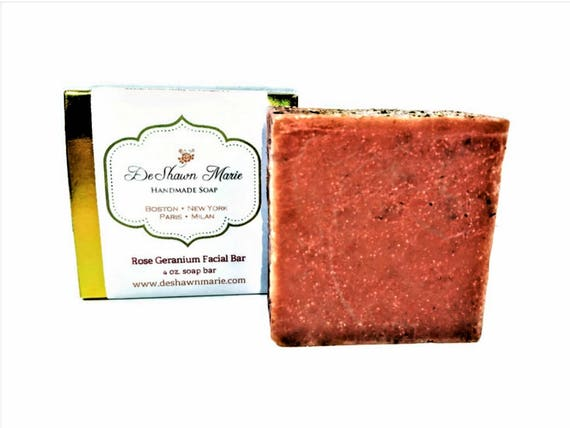 SOAP - Rose Geranium Soap Facial soap Cold Process Soap Vegan Soap Organic Soap Soap Gift Christmas Gift   Soap Sale Christmas Clearance