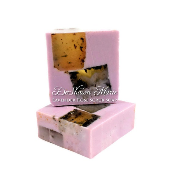 Lavender Rose Soap/Lavender Soap/Vegan Soap/Soap Gift//Soap Favors//Housewarming Gift/Valentine's Gift    Soap Sale Christmas Clearance
