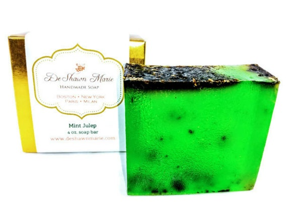 SOAP - Mint Julep Soap, Mint Soap, Vegan Soap, Spearmint Soap, Soap Gift, Green Soap, Kentucky Derby, Father's Day Gift, Christmas Gift