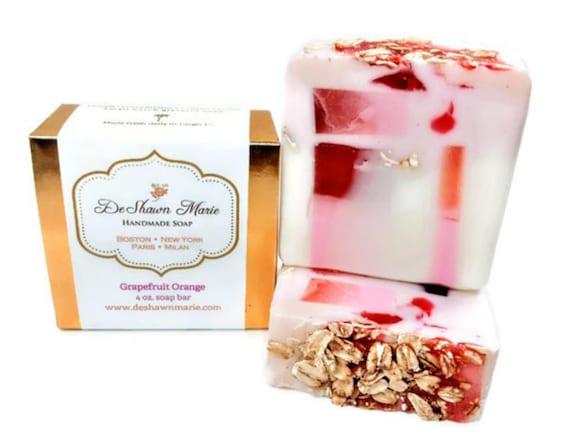 Grapefruit Orange Soap/Citrus Soap/Handmade Soap/Vegan Soap/Soap Gift/Mother's Day Gift/Soap Favors/Birthday Gift/Valentine's Gift