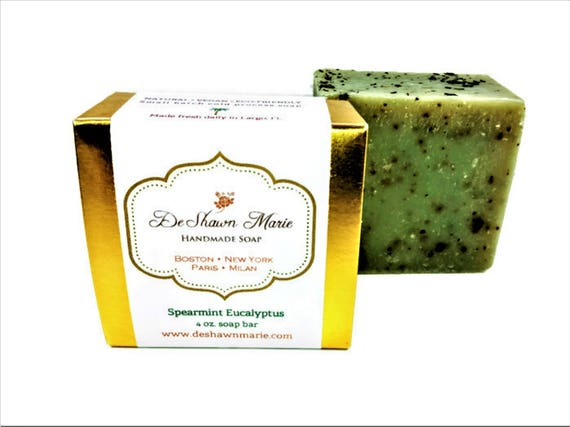 Spearmint Eucalyptus Soap/Organic Soap/Natural Soap/Cold Process Soap/Vegan Soap/Soap Gift/Christmas Gift/Handcrafted Soap/Homemade Soap