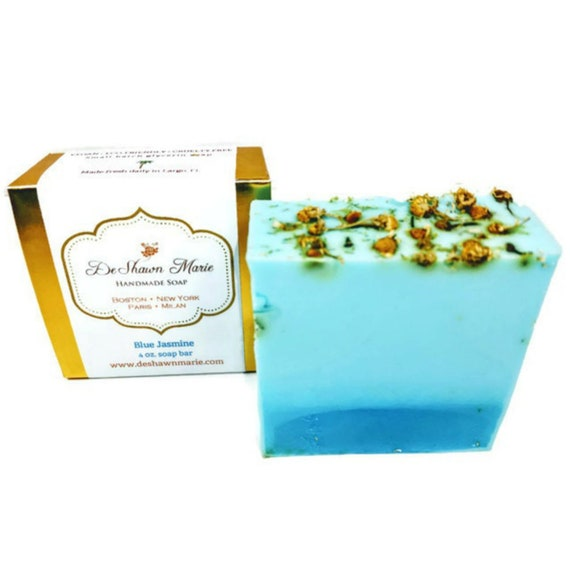 SOAP Blue Jasmine Soap Handmade Soap Vegan Soap  Natural Soap Floral Soap Soap Gift Christmas Soap Gift Soap Favors Christmas Clearance