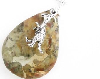 Coprolite Pendant, Dinosaur Poop Fossil Jewelry, Agate Stone