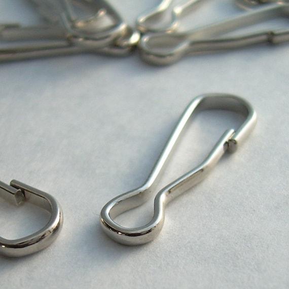 20 Steel Lanyard Hooks/ Sprung Hooks Accessory Clip 20 mm