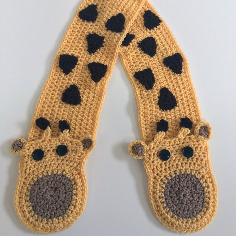 New Giraffe Pocket Crochet Scarf Pattern Pdf Etsy