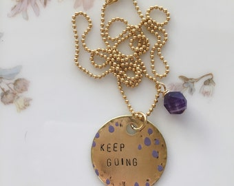 ADULT RBG necklace Better B***h than Mouse with iolite bead