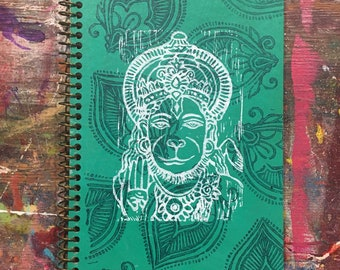 Hanuman Lined Journal (Green)