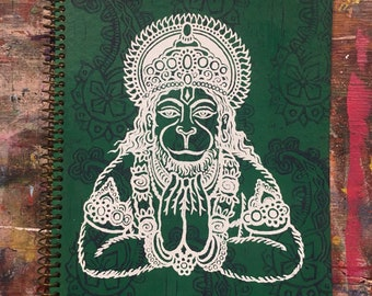 Hanumān Large Lined Journal (Green)