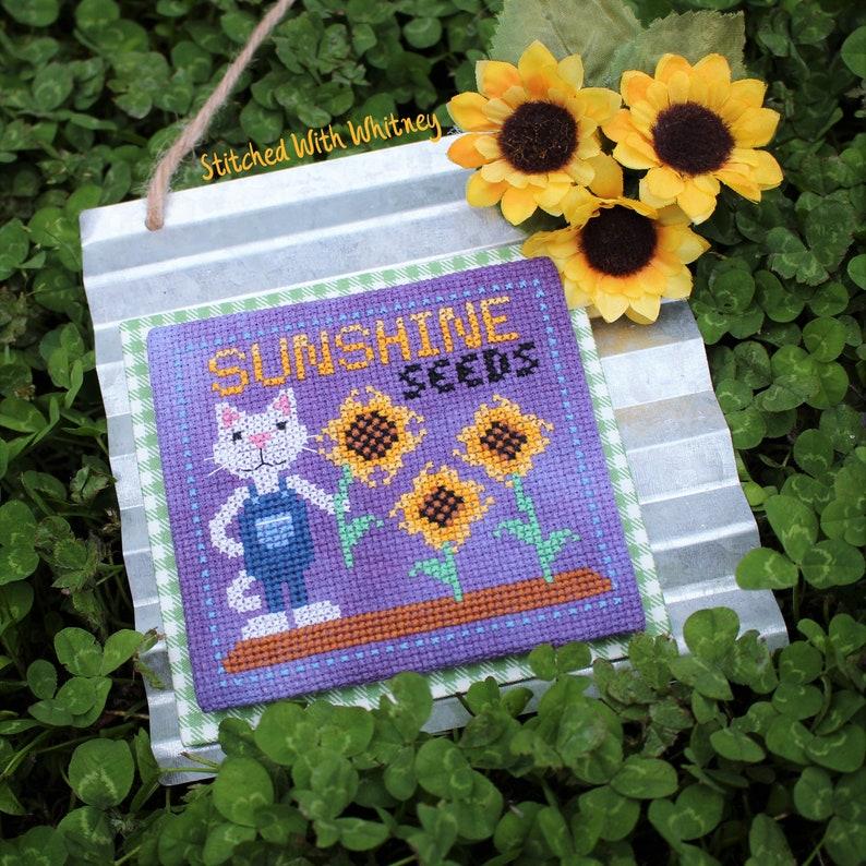 Sunshine Seeds  Crop of Characters   Cross Stitch PDF image 0