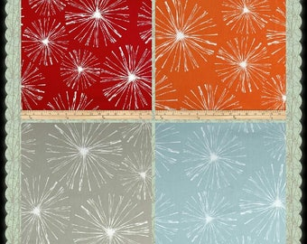 CUSTOM-Made Valances,  Panels, Tiers. Swags ~You Choose Size ~ Lined or Unlined ~ Rod Pocket  ~ Starbursts red burnt orange Gray taupe blue