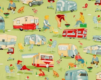 Custom-Made Valances,  Panels, Tiers. ~You Choose Size ~ Lined or Unlined ~ Vintage Travel Trailers Airstream Teardrop Campers Red Green