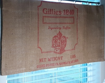 """Custom Made from Gillies Burlap Coffee (Grinder) Bag 38"""" x 18"""" Can be Customized"""