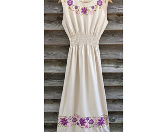 Stunning Hand Embroidered Vintage Dress