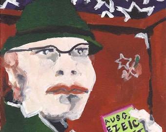 Homage to Felix Nussbaum, Self Portrait with Jewish Identity Card